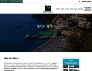 greatexpeditions.com screenshot