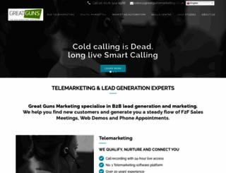 greatgunsmarketing.co.uk screenshot