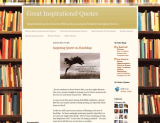 greatinspirationalquotes.blogspot.com screenshot