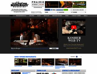 greatkosherrestaurants.com screenshot