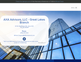 greatlakes.axa-advisors.com screenshot