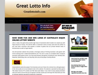 greatlottoinfo.com screenshot