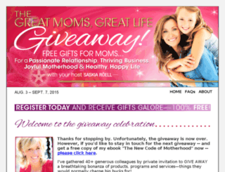greatmomsgreatlifegiveaway.com screenshot