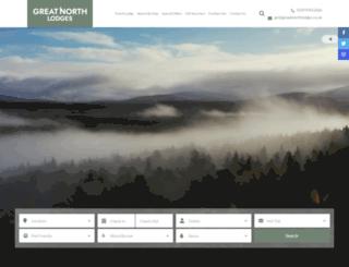 greatnorthlodges.co.uk screenshot