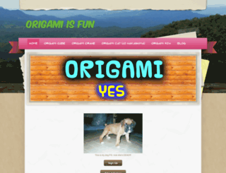 greatorigami.weebly.com screenshot