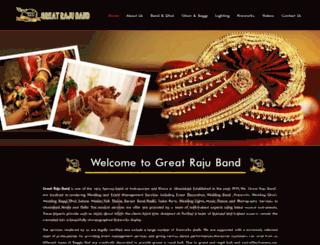 greatrajuband.com screenshot