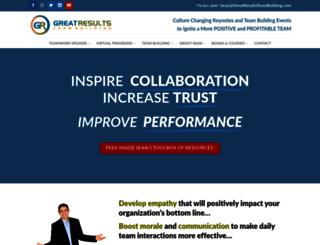 greatresultsteambuilding.net screenshot