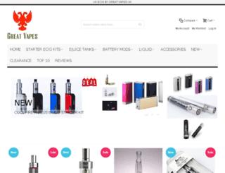 greatvapes.co.uk screenshot