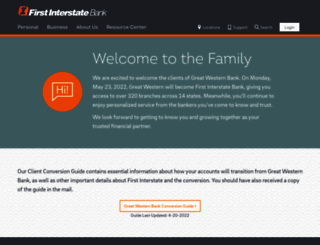 greatwesternbank.com screenshot
