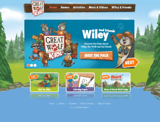 greatwolfkids.com screenshot