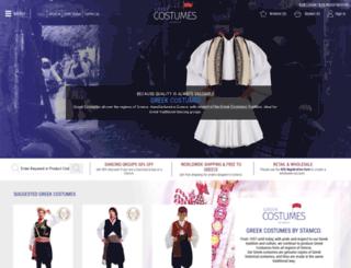 greek-costumes.com screenshot