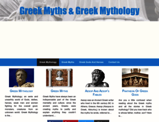 greekmyths-greekmythology.com screenshot