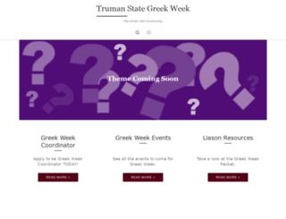 greekweek.truman.edu screenshot