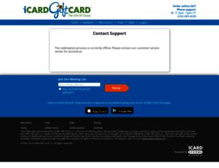 green.icardgiftcard.com screenshot