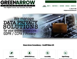 greenarrowconsultancy.com screenshot