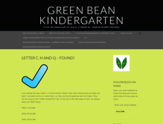 greenbeankindergarten.wordpress.com screenshot