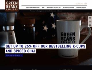 greenbeanscoffee.com screenshot