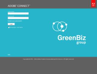 greenbiz.adobeconnect.com screenshot