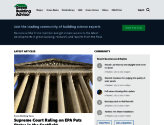 greenbuildingadvisor.com screenshot