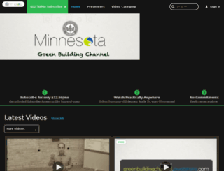 greenbuildingchannel.pivotshare.com screenshot