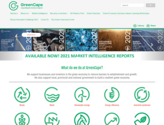 greencape.co.za screenshot