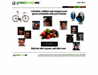 greencred.me screenshot
