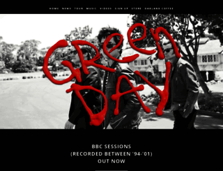 greenday.com screenshot
