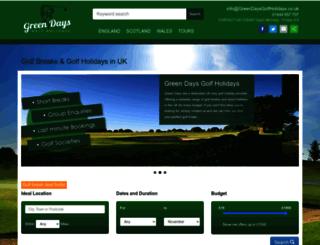greendaysgolfholidays.co.uk screenshot