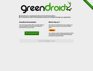 greendroid.cyrilmottier.com screenshot