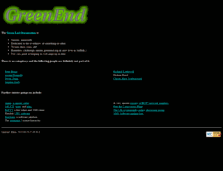 greenend.org.uk screenshot