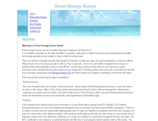 greenenergysource.co.uk screenshot