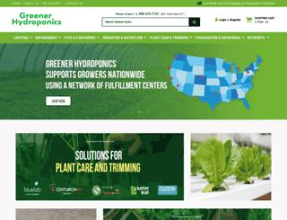greenerhydroponics.com screenshot