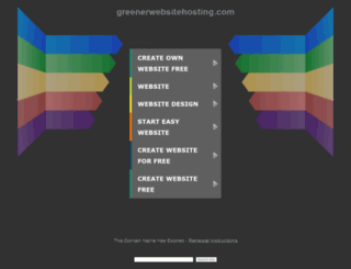 greenerwebsitehosting.com screenshot