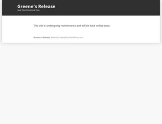 greenesrelease.com screenshot