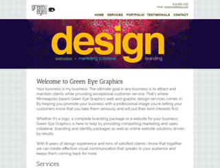 greeneyegraphics.com screenshot