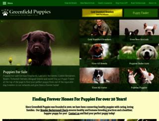 greenfieldpuppies.com screenshot