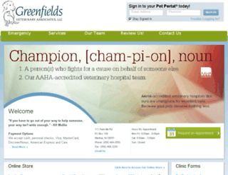 greenfieldsveterinary.vetstreet.com screenshot