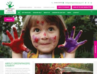 greenfingerscharity.org.uk screenshot