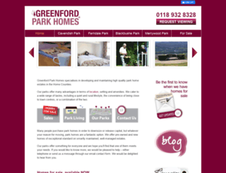 greenfordparkhomes.co.uk screenshot