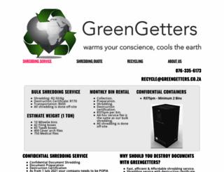 greengetters.co.za screenshot