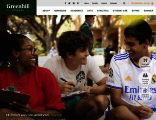 greenhill.org screenshot
