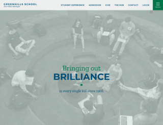 greenhillsschool.org screenshot