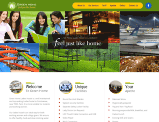 greenhomehostel.com screenshot