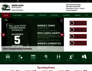 greenhopehigh.wcpss.net screenshot