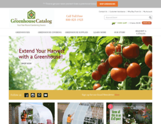 greenhousecatalog.com screenshot