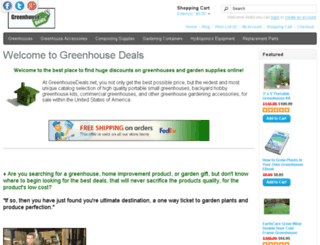 greenhousedeals.net screenshot