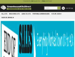 greenhousekitsdirect.com screenshot