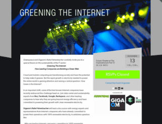 greeningtheinternet.splashthat.com screenshot