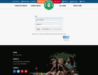 greenlane.campintouch.com screenshot