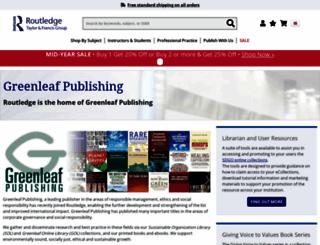 greenleaf-publishing.com screenshot